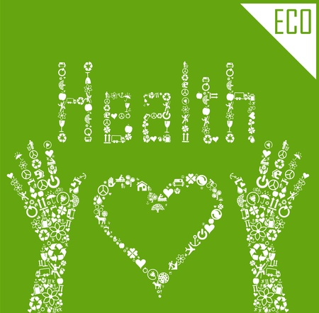 Ecology health background concept illustration Stock Vector - 10339392