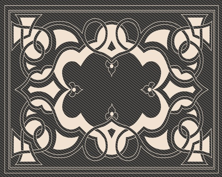 Vintage royal floral background illustration Vector
