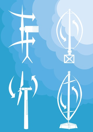 Wind turbines background illustration Stock Vector - 10339234