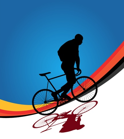 Bicycle rider background illustration Vector