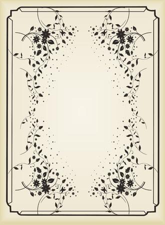 Vintage royal floral background illustration Vector