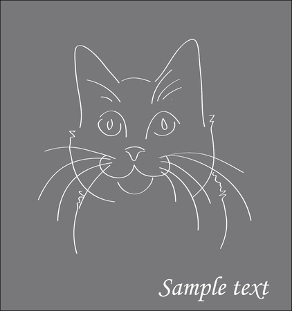 Animated cat silhouette background illustration Stock Vector - 10339311