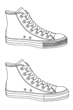 Gym sport shoes background illustration