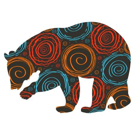 osos navide�os: Animados de Navidad oso ilustraci�n de fondo Vectores