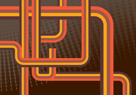 70s: Abstract retro lines background illustration