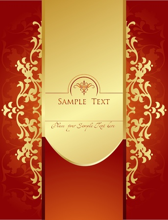 scroll shape: Vector Vintage background for book cover or card Illustration