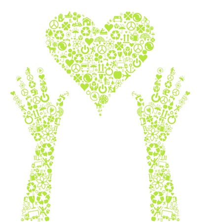 permaculture: Love eco life made with ecology icons vector background