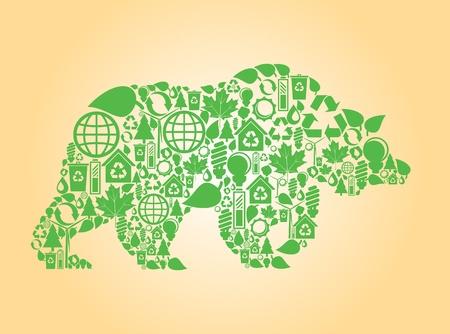 Gardez à l'écologie fait icônes de fond