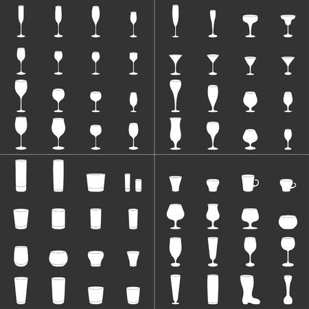 copa de martini: conjunto de colecci�n de vidrio