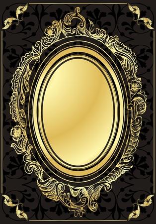 Vintage Golden Background  Vector