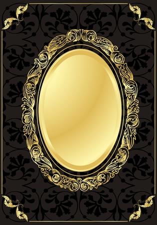 fleur: Fondo dorado Vintage