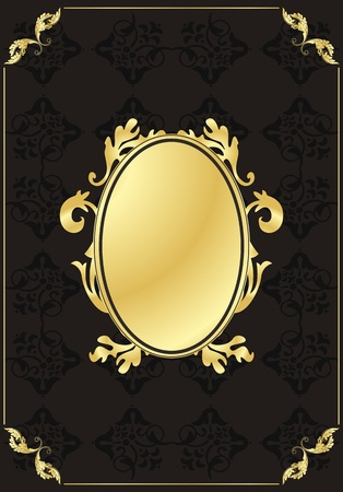 royal rich style: Vintage background for book cover or card Illustration