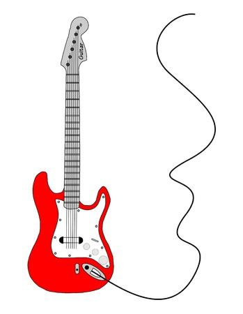 bass guitar: Guitar background Illustration