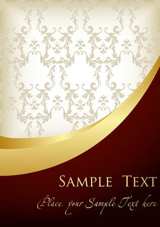 carpet texture: Vintage background for book cover or card Illustration