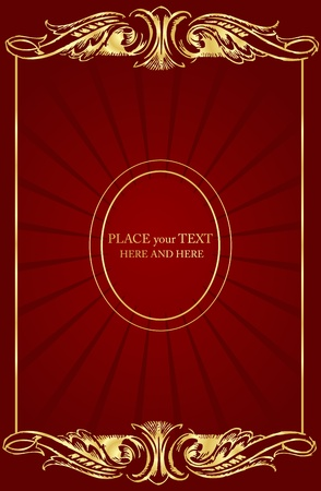 red carpet background: Vintage background for book cover or card Illustration