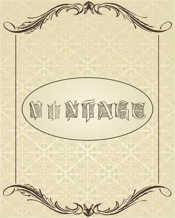Vintage background for book cover or card Illustration