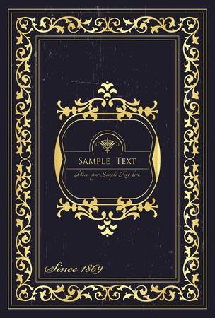 Fondo Vintage para la portada del libro o de la tarjeta