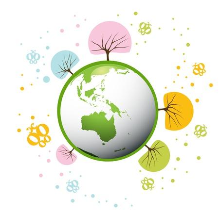 environnement entreprise: Arri�re-plan de plan�te Eco
