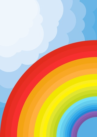 early summer: Animated cute rainbow background illustration