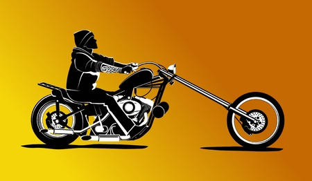 Biker rider background illustration Vector