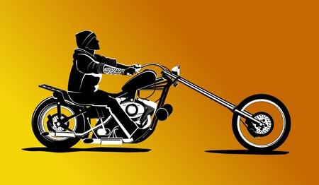 harley: Biker rider background illustration
