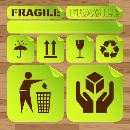 Green ecology icon made concept background illustration Vector