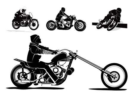 motorbike jumping: Biker rider background illustration