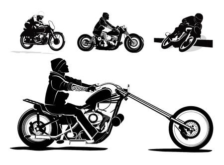 silueta moto: Ilustraci�n de fondo Biker rider