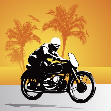 speed ride: Biker rider arabic  background illustration