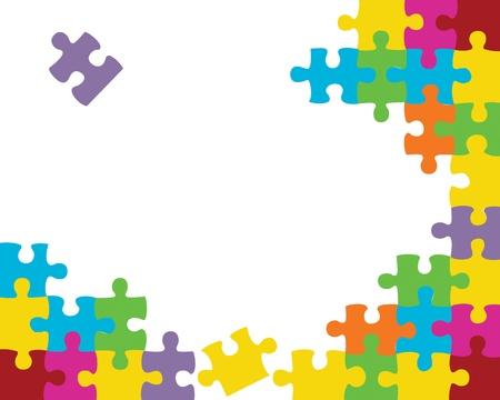 puzzle background: Abstract jigsaw puzzle background illustration Illustration