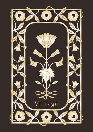 cartouche: Vintage frames and elements illustration