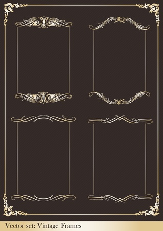 cartouche: Vintage frames and elements illustration collection Illustration