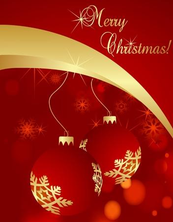 Lovely Christmas background illustration Stock Vector - 10371469