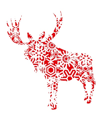 Christmas moose background illustration Vector