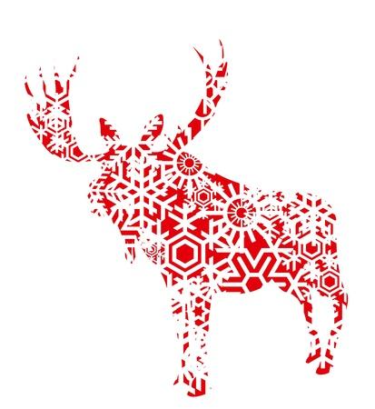 moose: Christmas moose background illustration Illustration