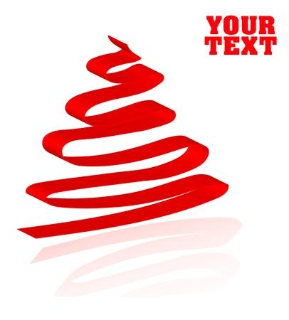 spruce tree: Lovely Christmas spruce tree concept background illustration