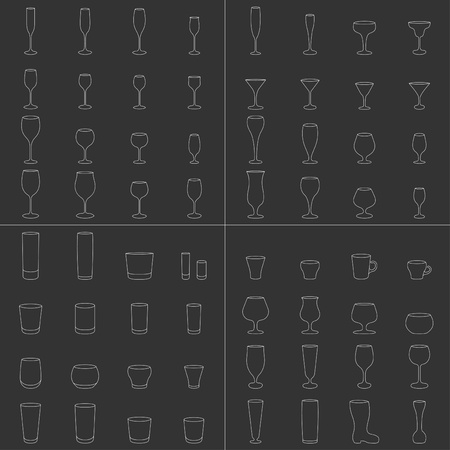 Glass illustration collection Vector
