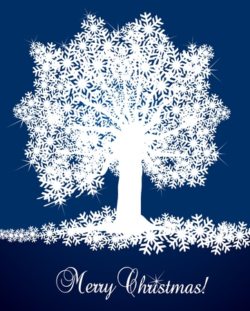 Christmas tree background illustration Vector