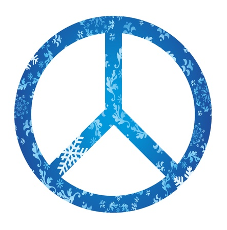seasonal symbol: Winter peace concept background illustration