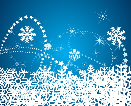 Christmas snowflake background illustration Stock Vector - 10364923
