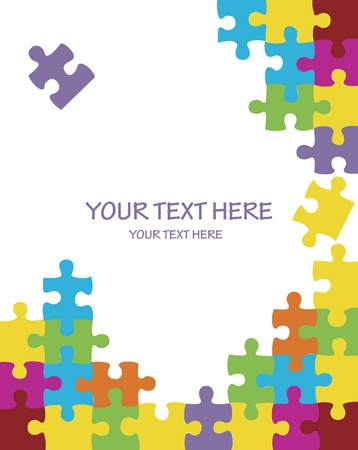 cross match: Puzzle vector background