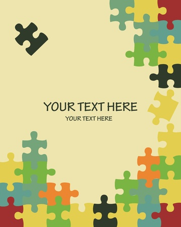 puzzle: Puzzle vector background