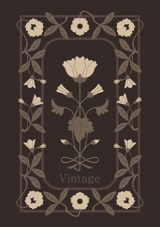 Vintage background vector for book cover or card Stock Vector - 10362238