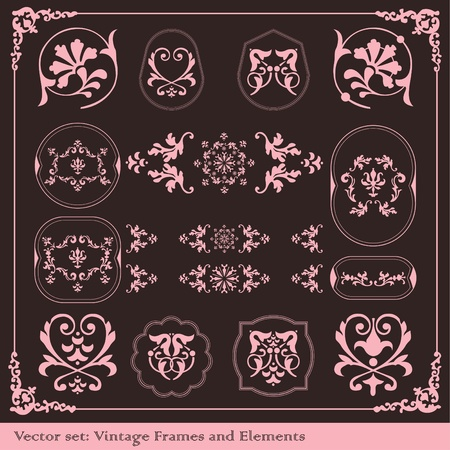 Vintage elements vector background set Stock Vector - 10362274