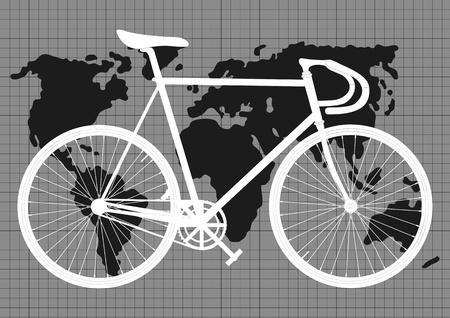 bicicleta retro: Hombre Vectores