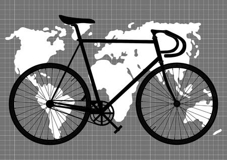 bicycle wheel: Man Illustration