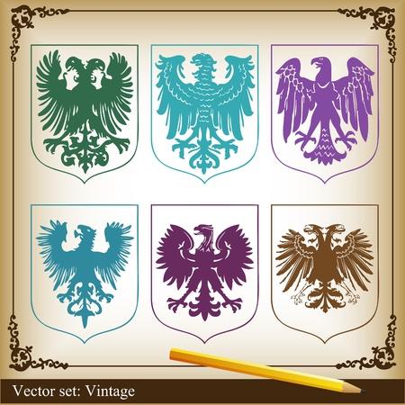 speculative: Eagle set vector background