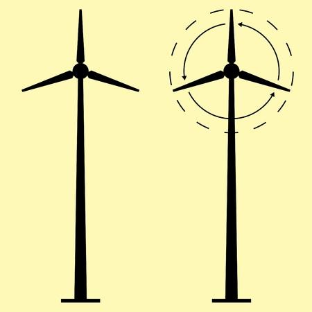 generadores: Fondo de vector de generadores de viento Vectores