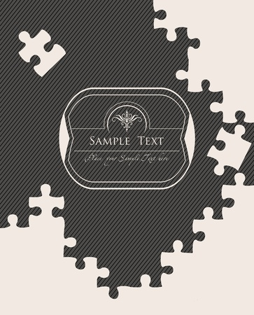 Vintage puzzle vector background Stock Vector - 10362283