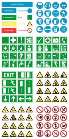 strictly: Different signs set vector background